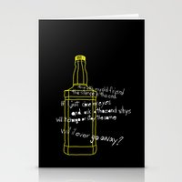 jack daniels Stationery Cards featuring Jack Daniels by Jaune Citrine
