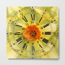 The Power of Petals 2...The Clock! Metal Print