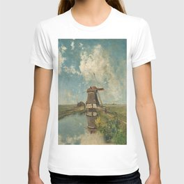 A mill on a polder canal, known as 'In the month of July' - Paul Joseph Constantin Gabriël (1889) T-shirt