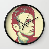 james franco Wall Clocks featuring James by victorygarlic - Niki