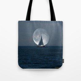 Full Moon Sailing Tote Bag