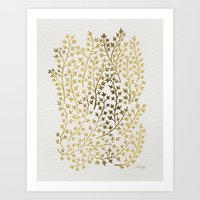 micklyn Art Prints featuring Gold Ivy by Cat Coquillette