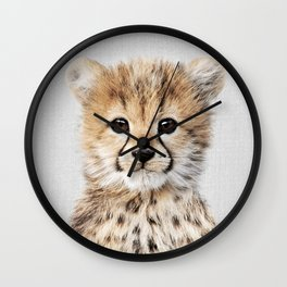 Baby Cheetah - Colorful Wall Clock