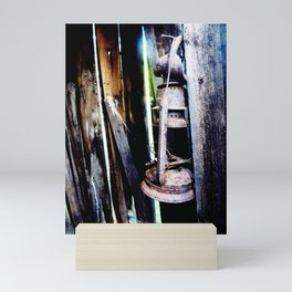 Lantern in the Smokehouse Mini Art Print