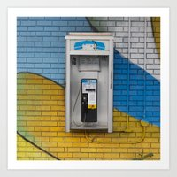 telephone Art Prints featuring Telephone by RMK Photography