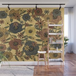 Grunge Floral Wall Mural