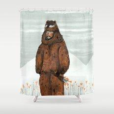 Wilder Mann - The Bear Shower Curtain