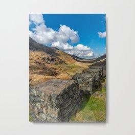Nant Ffrancon Pass Snowdonia Metal Print