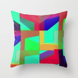 Colorful Truth. Green. Throw Pillow