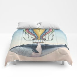 Whale And Bird Comforters