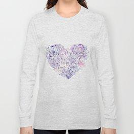 flower heart . sylvia plath quote . the bell jar Long Sleeve T-shirt
