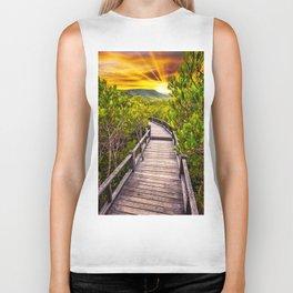 Mangrove Forest Sunset Biker Tank