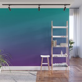 Ombre | Teal and Purple Wall Mural