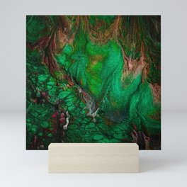 Abstract Voxel Landscape 03 Mini Art Print
