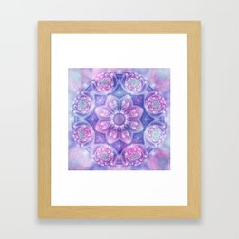Daydream Mandala in Purple, Blue and Pink Framed Art Print