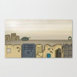 Pixel Desert Canvas Print