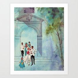 Vintage Wedding Art Print