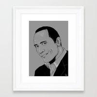 allyson johnson Framed Art Prints featuring Dwayne Johnson by Hazel