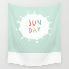Sunday in Mint Wall Tapestry