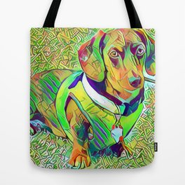 Great Green Dachshund Tote Bag