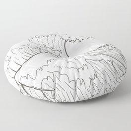 The wave of Kanagawa Floor Pillow