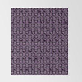 Halloween Damask Violet Throw Blanket