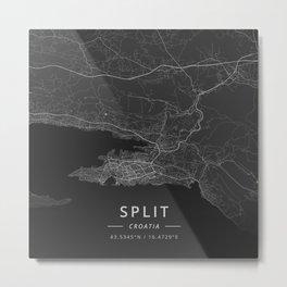 Split, Croatia - Dark Metal Print