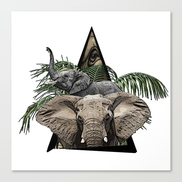 Elephant Jungle ArtWork Canvas Print