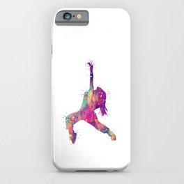 Hip-Hop Girl Art Rap Music Gift Colorful Purple Watercolor Art Dance Art Hip-Hop Dancer iPhone Case