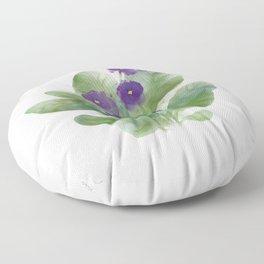 Violets - Watercolor Illustration Floor Pillow