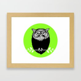 Ms. Owl Framed Art Print