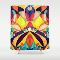 poetry Shower Curtains featuring Poetry Geometry by AnaiGreog