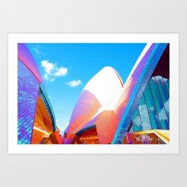 Technicolor opera Art Print