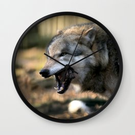 The wolf is hungry Wall Clock