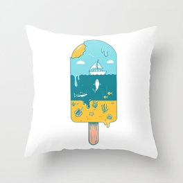 Melted Landscape Throw Pillow