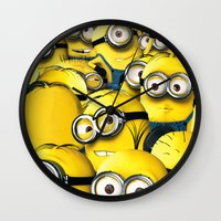 lannister Wall Clocks featuring DESPICABLE MINION by BeautyArtGalery