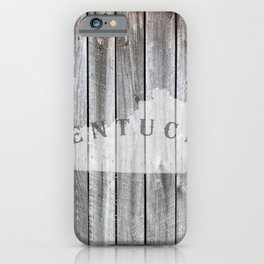 Kentucky Map State Wood Barn Rustic KY iPhone Case