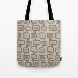 Dangling Rectangles in Brown Tote Bag