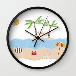 Summer Beach Fun Wall Clock