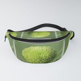 Green Button Pom Chrysanthemum Fanny Pack