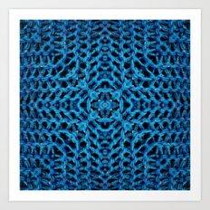 Knit Reflection Art Print
