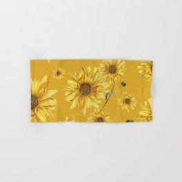 Sunflower Pattern 3 Hand & Bath Towel