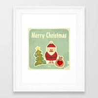 merry christmas Framed Art Prints featuring Merry Christmas by Cs025