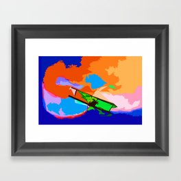 Biplane Aerobatics Framed Art Print