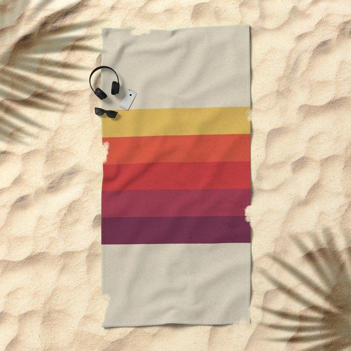 Retro Video Cassette Color Palette Beach Towel
