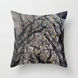 In the golden forest Throw Pillow