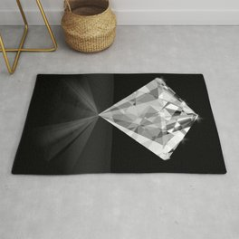 Shiny Diamond Gem Stone with a Sparkle of Light Rug