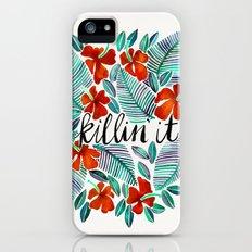 Killin' It – Tropical Red & Green iPhone SE Slim Case