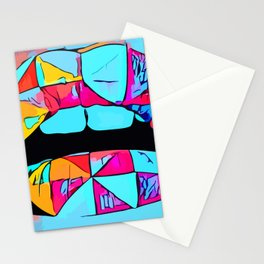 Lips Abstract Stationery Cards