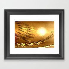 golden landscape. Framed Art Print